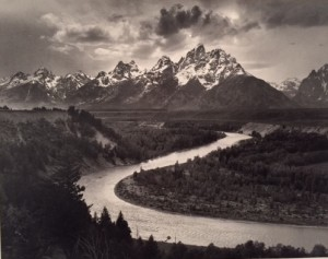 Ansel Adams' iconic photo of the Snake River (1942)  from http:/archives.gov