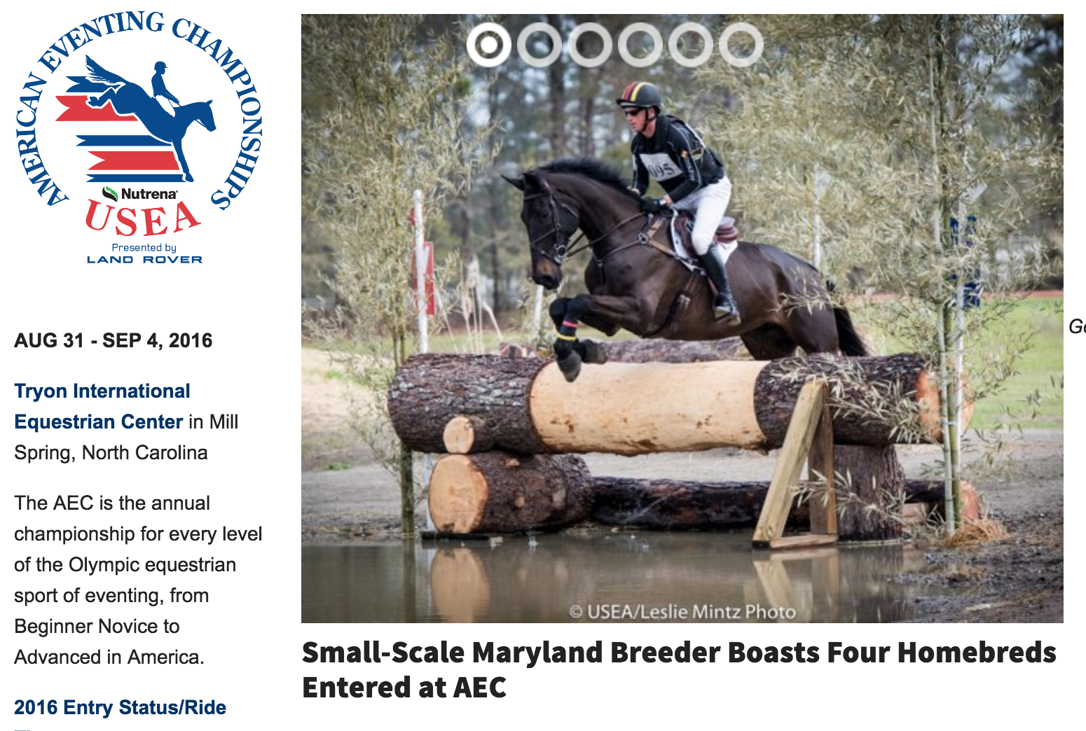 USEA coming to  Tryon