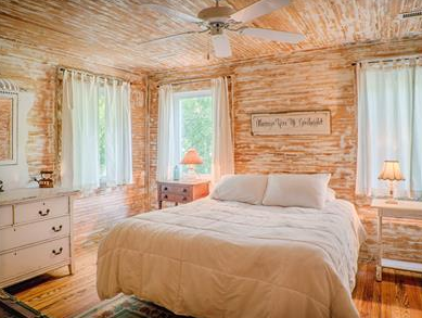 bright and sunny old fashioned bedroom