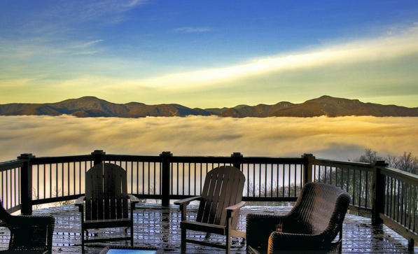 deck above the clouds at 221 half moon mile