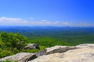 Mountain skyline of North Carolina.