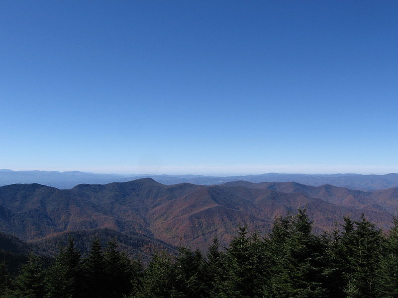 The view from Mount Mitchell.