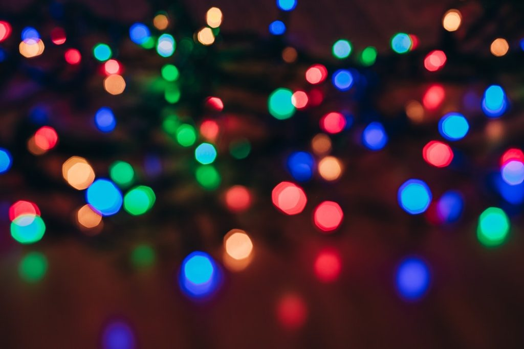 Blurry lights at one of the holiday events.